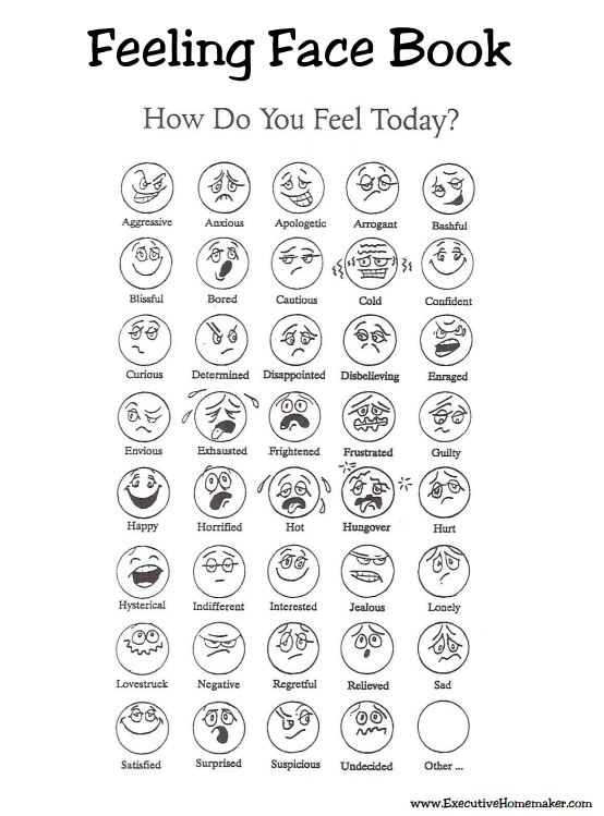 Feeling Face Book of Emotions for Kids