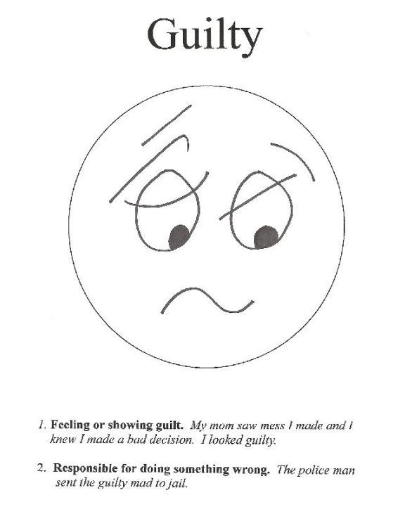 Guilty Feeling Face Book for Kids Emotions