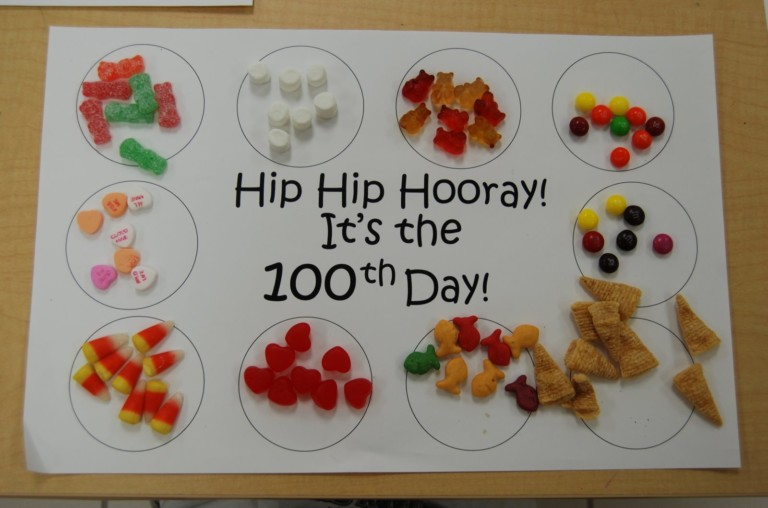 Hip HIp Horray It's the 100th Day of School Counting Activity
