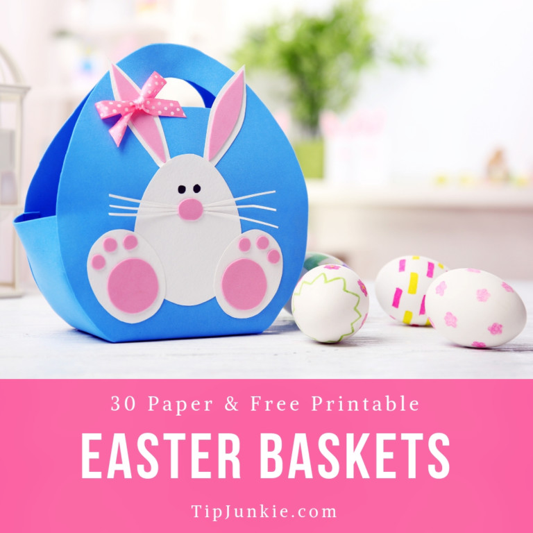 29 Paper Easter Basket Ideas free printables