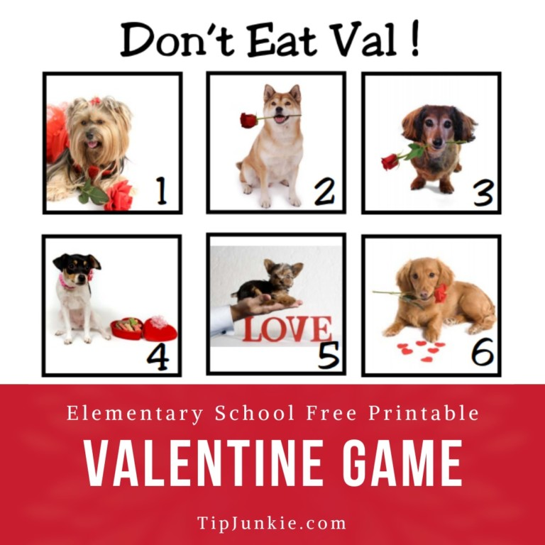 Dont Eat Valentine Party Games To Print