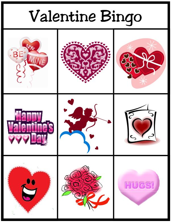 Valentine Bingo Game Free Printable