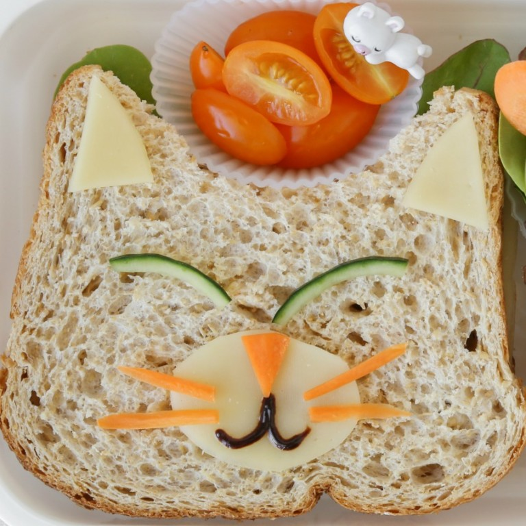Creative School Lunches Cat Sandwich