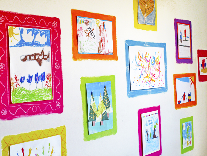 Hand Drawn Frames Gallery Wall