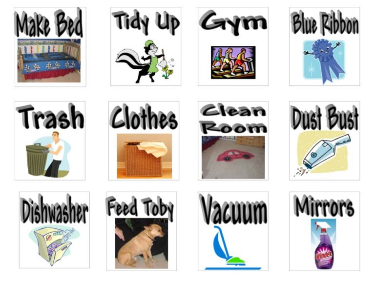 Daily Schedule Chore Pictures