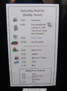 small daily pictured schedule for toddlers