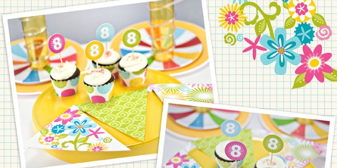 Inkbloom Cupcake Toppers Wrappers Printables