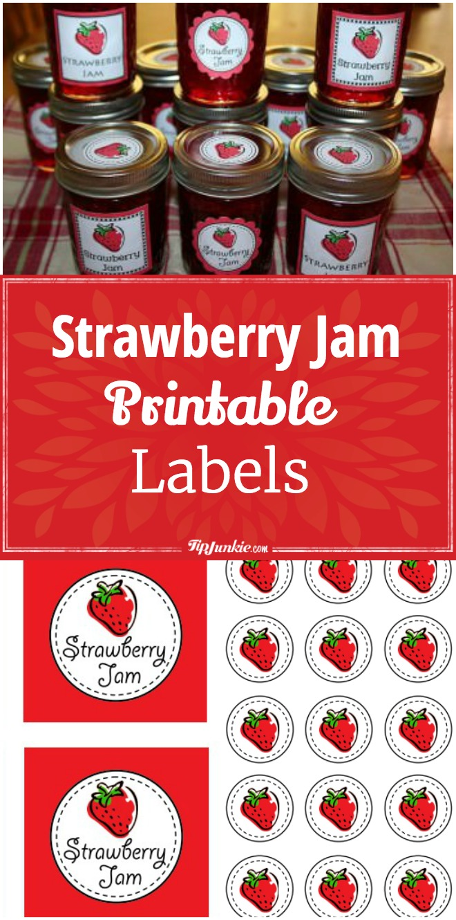 Strawberry Jam Printable Labels