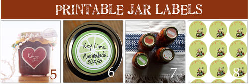 Free Printable Labels for Canning Mason Jars
