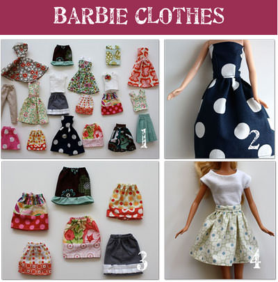 Easy Barbie Dress Up Patterns Tip Junkie Amazing Barbie Clothes Patterns