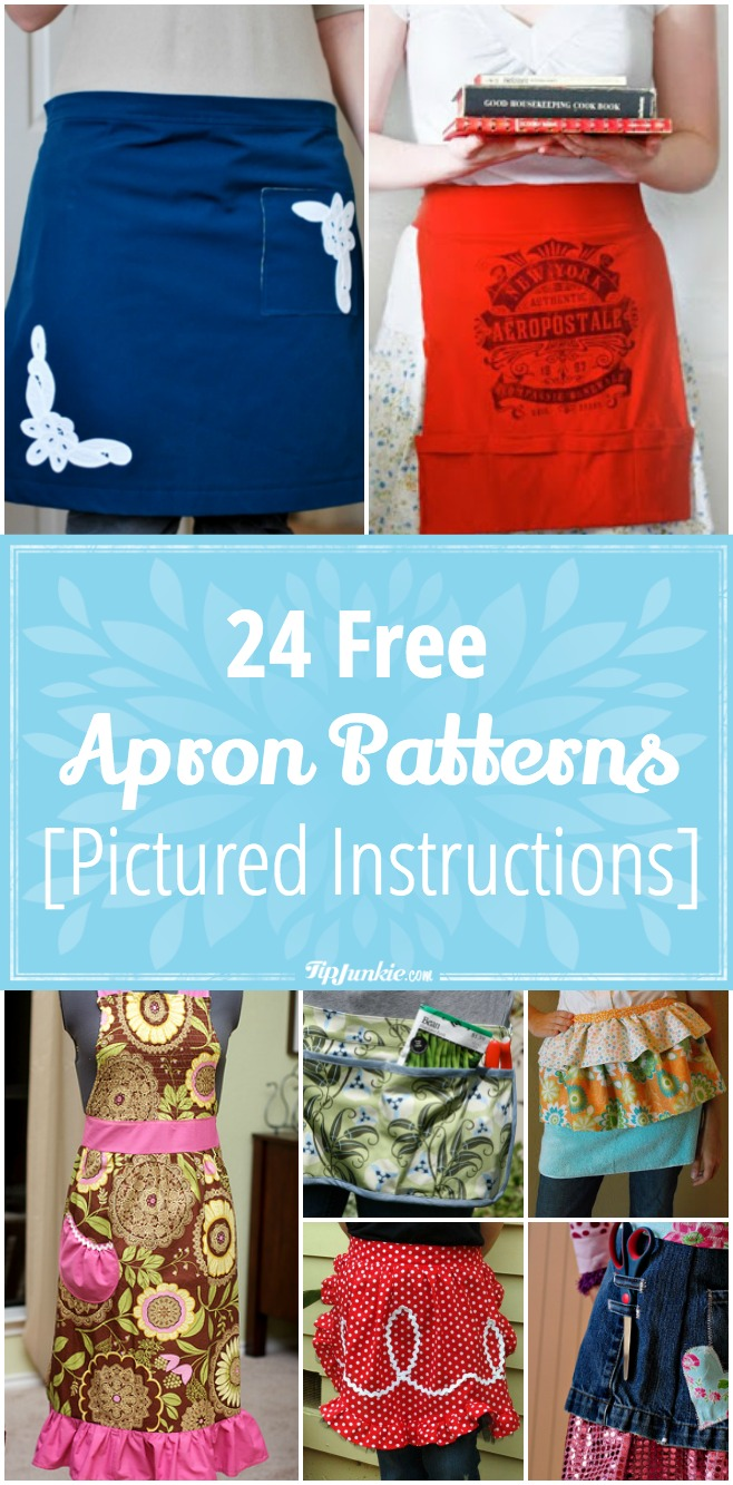 24 Free Apron Patterns [Pictured Instructions]
