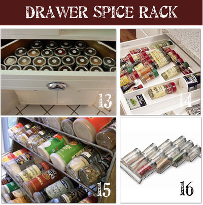 Drawer Storage for Spices