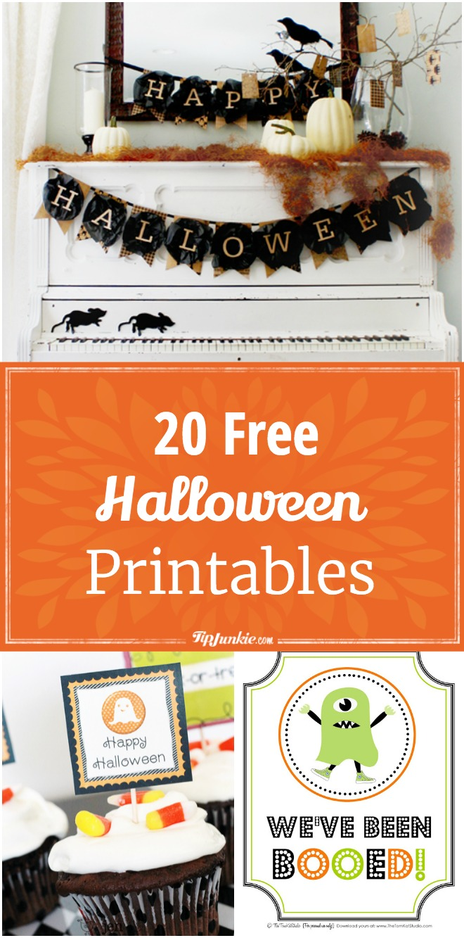20 Spooktacular free printables to decorate your home or party this Halloween. So fun!