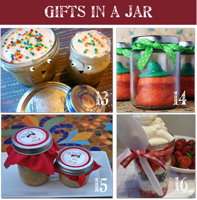 Homemade Gifts in a Jar Cake