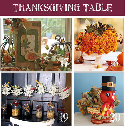 Thanksgiving Pictures of Centerpieces