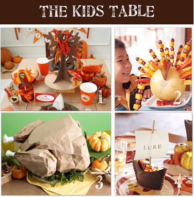 Thanksgiving for Kids  sc 1 st  Tip Junkie & Thanksgiving for Kids ~ 20 Table Ideas | Tip Junkie