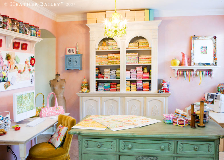 12 beautiful crafting rooms diy tip junkie heather bailey craft room and studio solutioingenieria Gallery