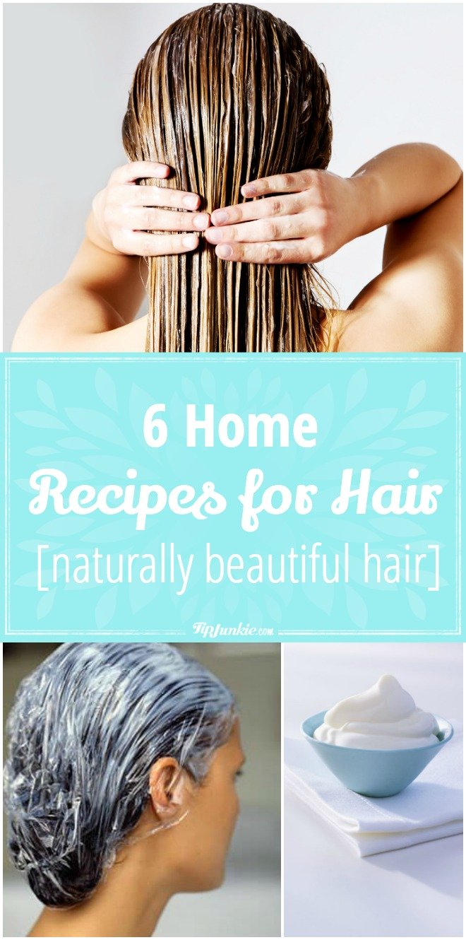 6 Home recipes for naturally beautiful hair!
