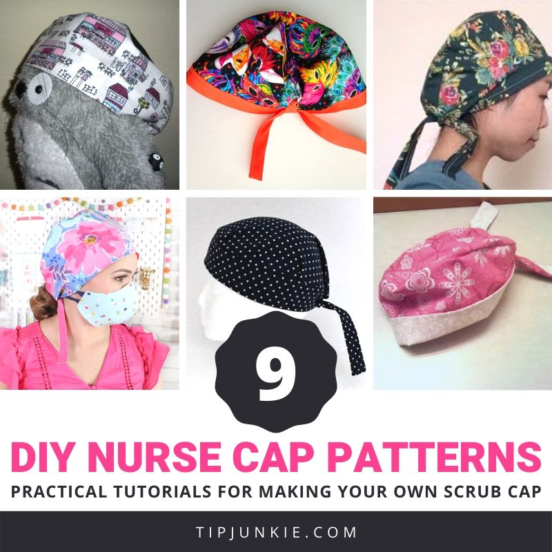 free women's scrub caps patterns for medical uniform