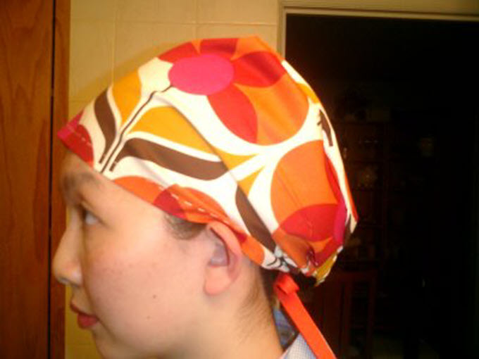Reversible Women's Scrub Caps With Free Pattern And SVG