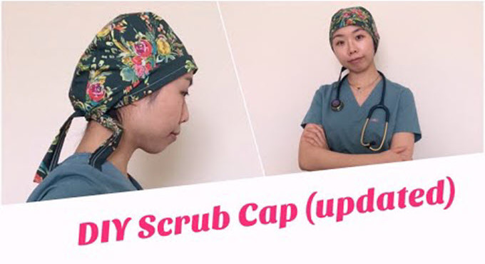 Scrub Cap Printable Pattern