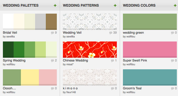 Have Fun Browsing Through User Created Palettes And Even Patterns Organized By Categories Like Wedding Home Fashion Business Or Make Your Own