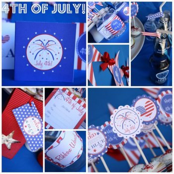 4th of July Party Printables {8 free files!}