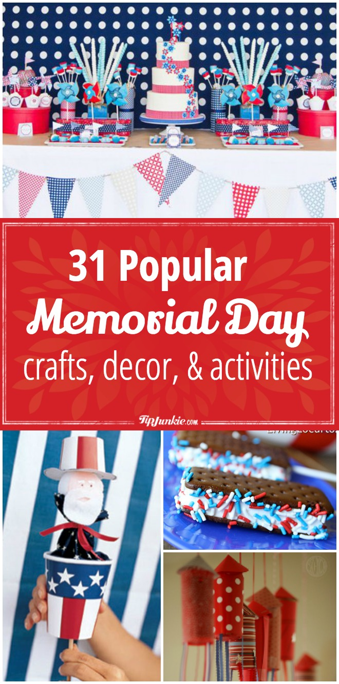 Memorial Day Easy Worksheets : Popular memorial day crafts decor and activities for