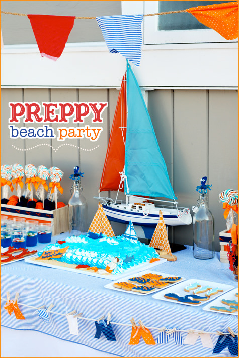 Teen Preppy Beach Party