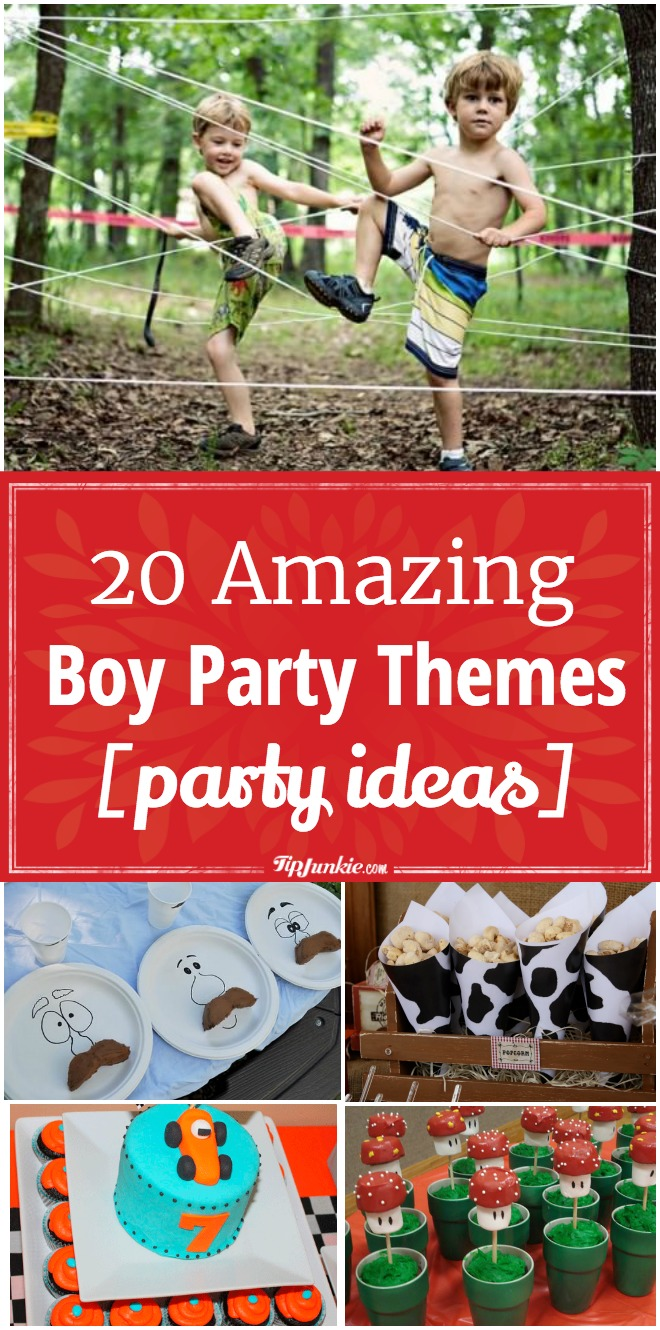 20 Amazing Boy Party Themes [party ideas]