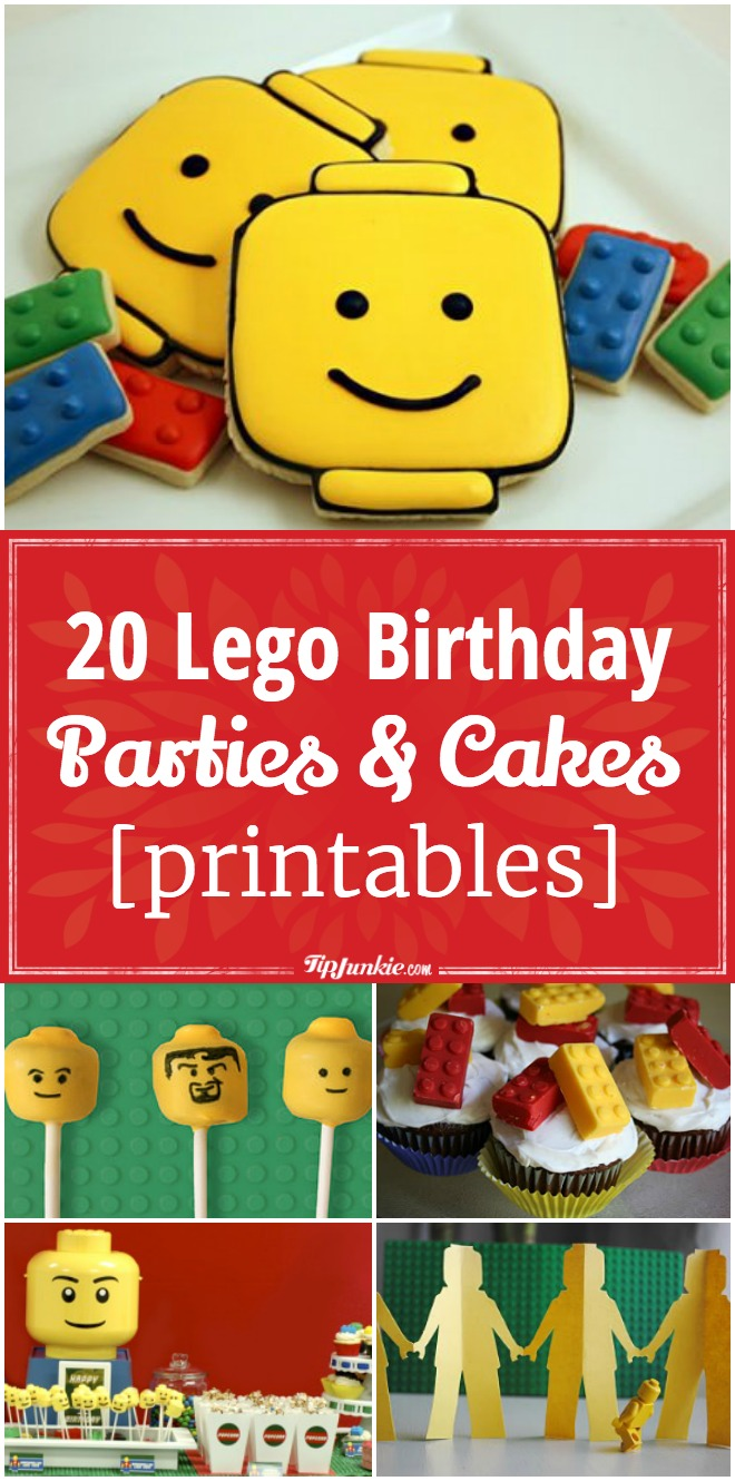 20 Lego Birthday Parties and Lego Cakes [printables]