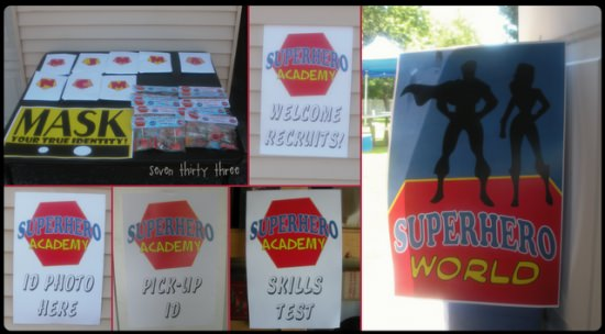 Superhero Academy Birthday Party
