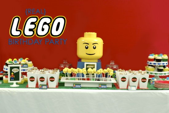 real Lego Birthday Party