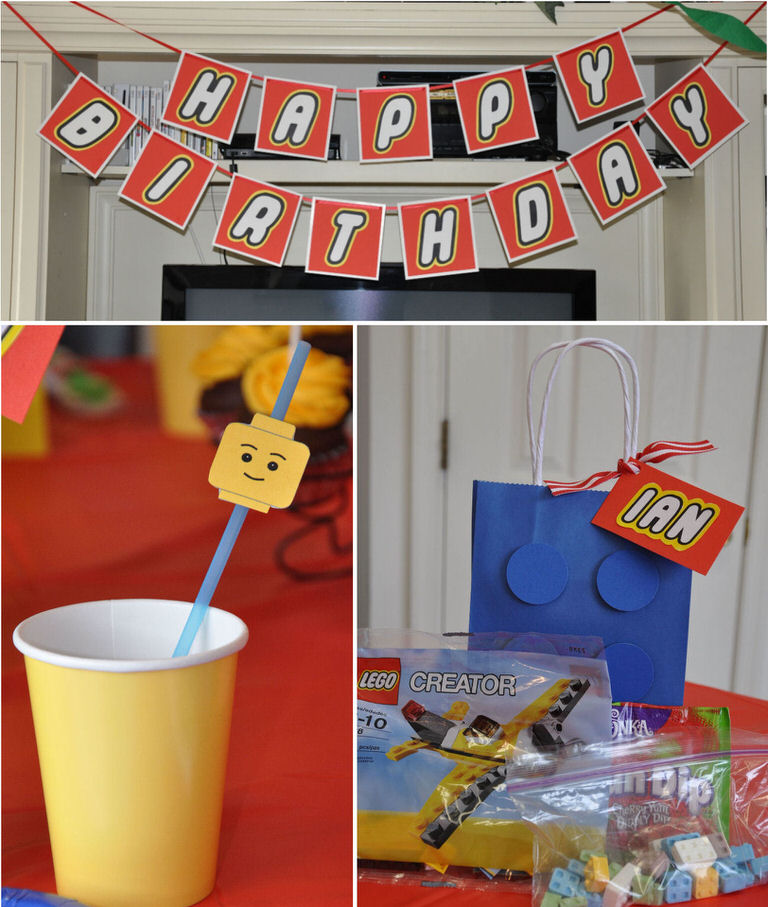 20 Lego Birthday Parties and Lego Cakes [printables] | Tip Junkie