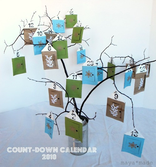Little Houses Advent Calendar Tutorial