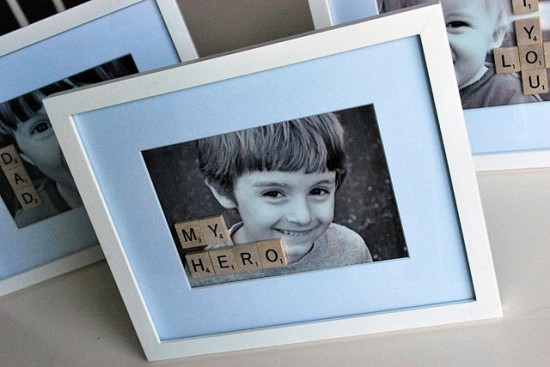 'My Hero' Scrabble Frame