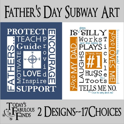 subway art style printable for Dad