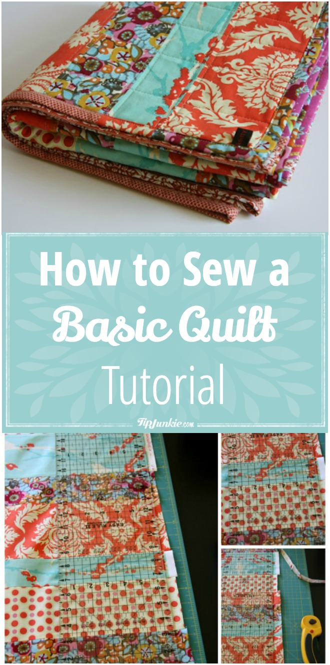 How to Sew A Basic Quilt Tutorial - makes an amazing gift!