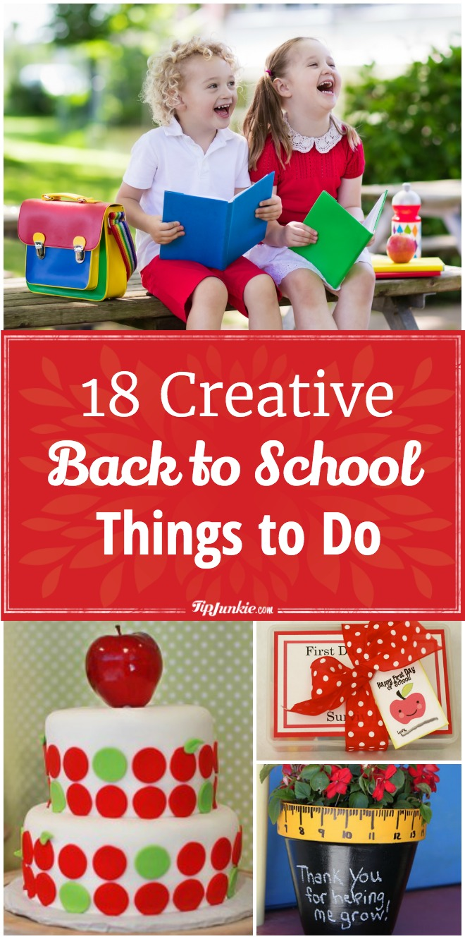Fun and creative things to do for back to school. Kids will love these ideas!