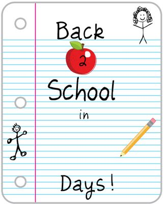 Back 2 School Countdown Printable