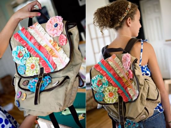 How to jazz up an old back pack