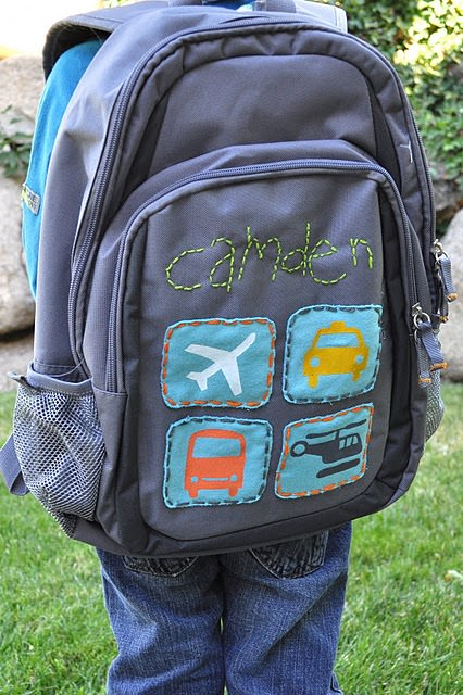 Boys Back to School Backpack Make Over