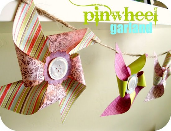 Make a Pinwheel Garland