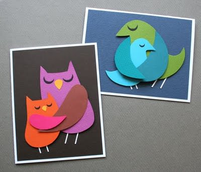Make A Momma Bird Card (or Two) {Template for Cards}