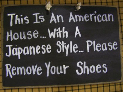 This is an American home, run Japanese style
