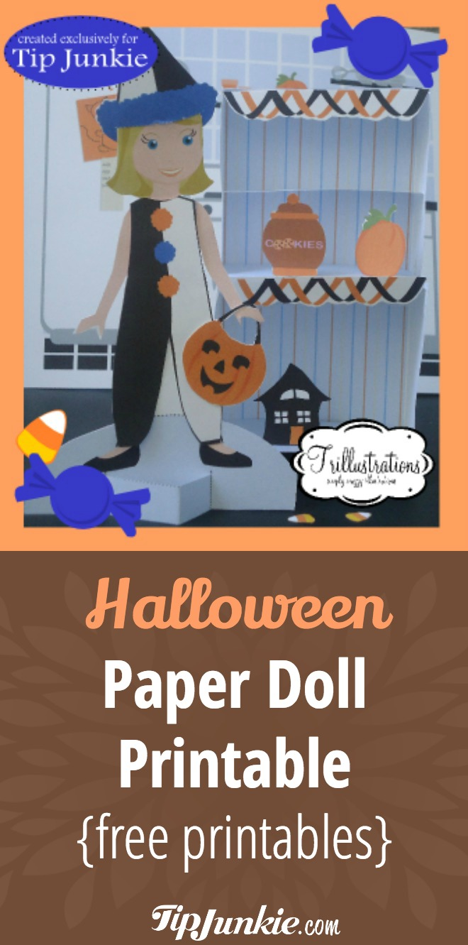 Halloween Paper Doll Printable {free printables}