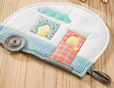 Happy Camper Pot Holder Pattern to Sew