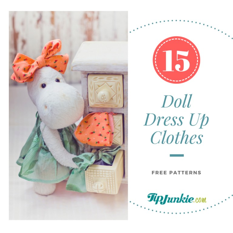 15 Doll Dress Up Clothes with Free Patterns on Tip Junkie