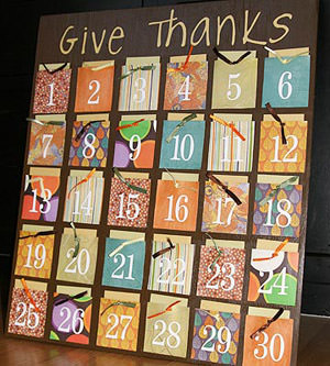 Thanksgiving Count Down Gratitude Board {Calendar Countdown}