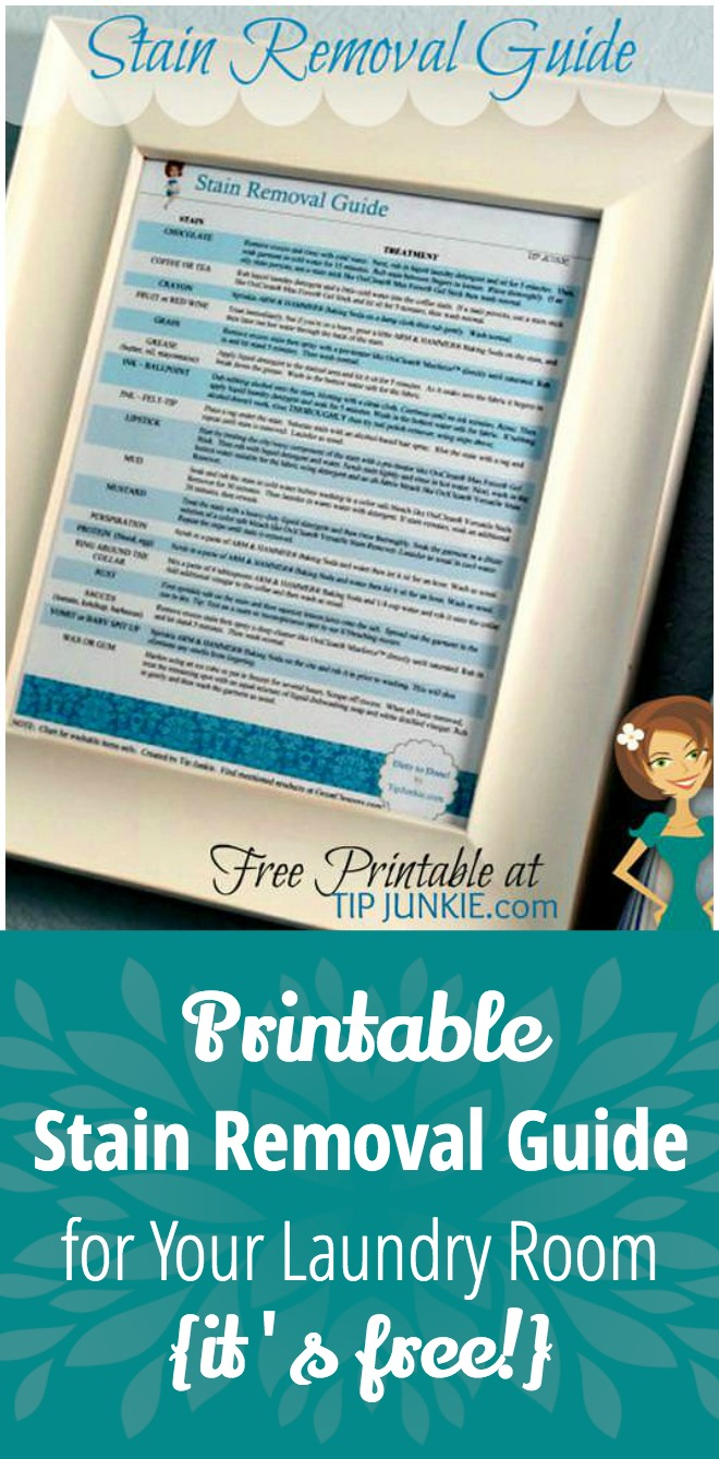 Printable Stain Removal Guide for Your Laundry Room